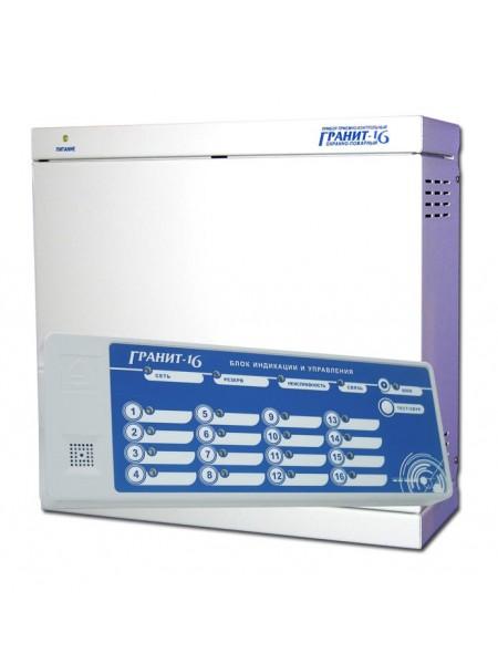 Гранит 16М c выносным блоком индикации и управления Прибор приемно-контрольный и управления охранно-пожарный